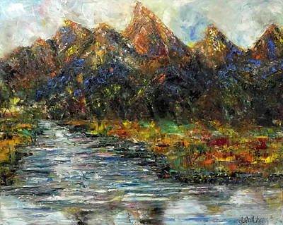Painting - Grand Tetons by Jennifer Godshalk