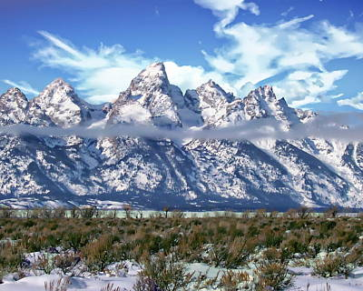 Photograph - Grand Tetons National Park by Anthony Dezenzio