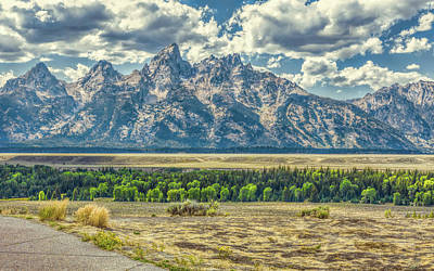 Photograph - Grand Tetons National Park by John M Bailey
