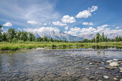 Photograph - Grand Tetons On A Sunny Day by Margaret Pitcher