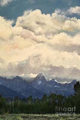 Digital Art - Grand Tetons  Sky by Suzette Kallen