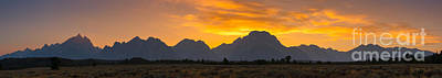 Surrealism Royalty Free Images - Grand Tetons Sunset Royalty-Free Image by Michael Ver Sprill