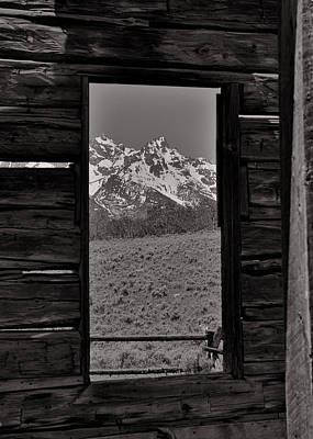 Photograph - Grand Tetons Through The Window by Dan Sproul