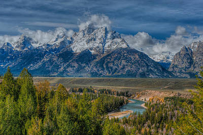 Photograph - Grand Tetons With The Snake River by Brenda Jacobs