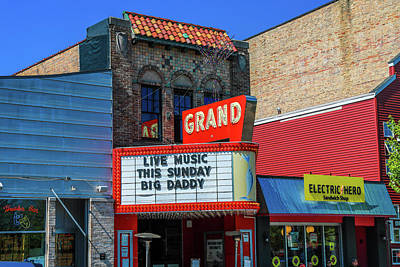 Photograph - Grand Theater Grand Haven Michigan by Dan Sproul