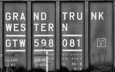 Photograph - Grand Trunk Western 10 B W 1 by Joseph C Hinson Photography