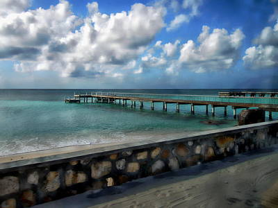 Photograph - Grand Turk Pier by Anthony Dezenzio