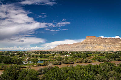 Photograph - Grand Valley And Colorado River by Teri Virbickis