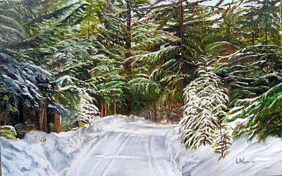 Painting - Grand View Drive by LaVonne Hand
