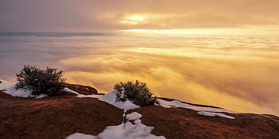 Winter Light Photograph - Grand View Glow by Chad Dutson
