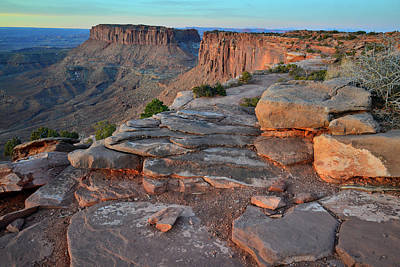 Photograph - Grand View Point Sunrise In Canyonlands National Park by Ray Mathis