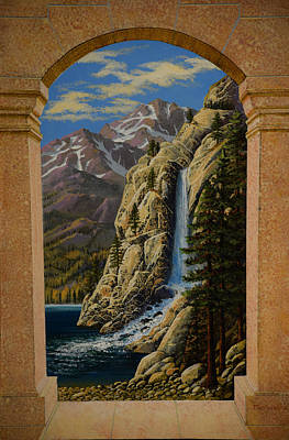 Painting - Grand Vista Wall Mural Side Panel by Frank Wilson
