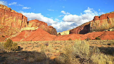 Photograph - Grand Wash From Scenic Drive In Capitol Reef Np by Ray Mathis