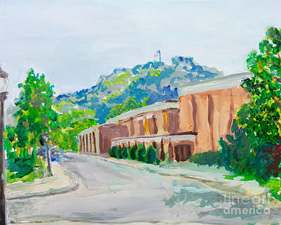 University Of Wisconsin Painting - Grandad Bluff by Carrie Hilson