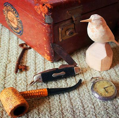 Photograph - Grandad's Valise by Timothy Bulone