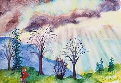 Painting - Grandama Cohen Rays 2 by Walt Brodis