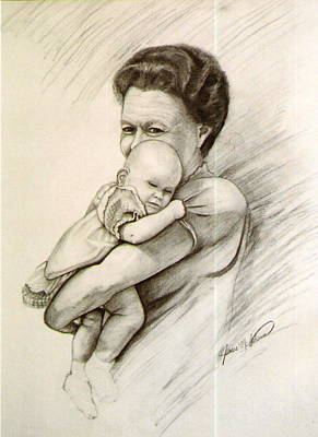 Drawing - Grandaughter by James McAdams