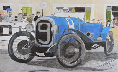 Sportscar Drawing - Granddaddy Of Them All  by Gustavo Bondoni