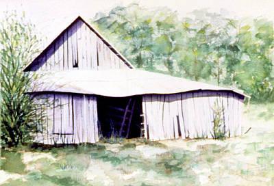 Painting - Granddaddy's Barn by Ceilon Aspensen