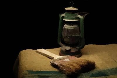 Lantern Digital Art - Granddads Paint Brush  by David Dehner