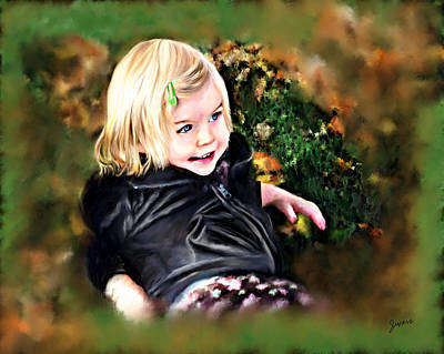 Painting - Granddaughter Portrait by Susan Kinney