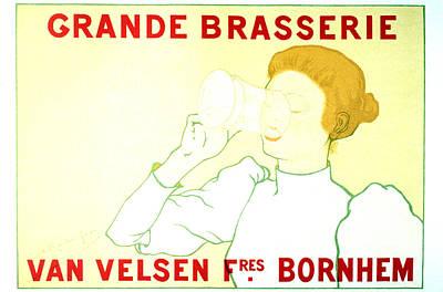 Mixed Media - Grande Brasserie - Bornhem, Belgium - Vintage Advertising Poster by Studio Grafiikka
