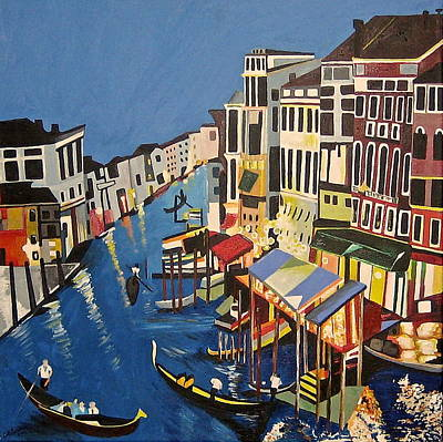 Painting - Grande Canal by Donna Blossom