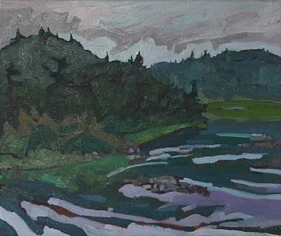 Portage Painting - Grande Chute Portage by Phil Chadwick