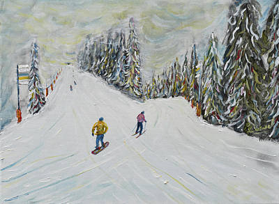 Painting - Grande Massif by Pete Caswell