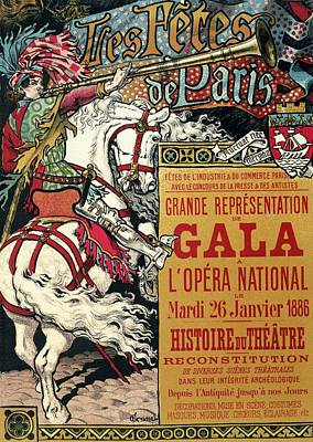 Mixed Media - Grande Representation De Gala - Festival Of Paris - Retro Travel Poster - Vintage Poster by Studio Grafiikka
