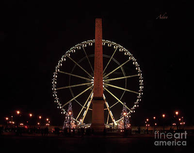 Photograph - Grande Roue De Paris Night by Felipe Adan Lerma