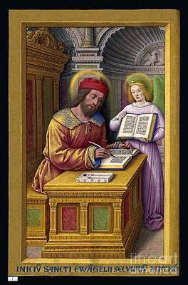 Grande Painting - Grandes Heures Anne De Bretagne Saint Matthieu by Celestial Images