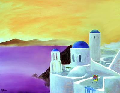 Greece Painting - Grandeur Of Greece by Larry Cirigliano
