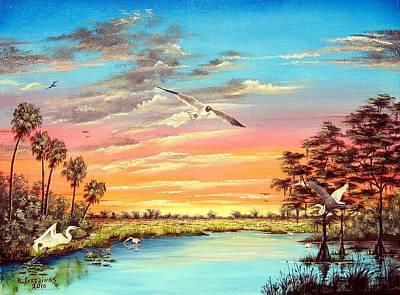 Grandeur Of The Glades Art Print by Riley Geddings
