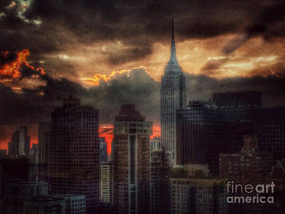 Photograph - Grandeur Of The Past - Empire State At Sunset by Miriam Danar