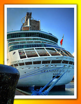 Photograph - Grandeur Of The Seas At Nassau by Bill Swartwout