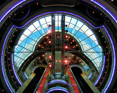 Photograph - Grandeur Of The Seas Purple Centrum by Bill Swartwout Fine Art Photography