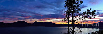Crater Lake Sunset Photograph - Grandeur by Beve Brown-Clark Photography