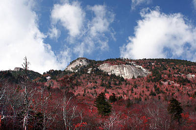 Photograph - Grandfather Mountain East Side by Ken Barrett