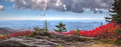 Photograph - Grandfather Mountain Panorama 01 by Jim Dollar