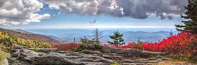 Photograph - Grandfather Mountain Panorama 03 by Jim Dollar