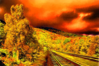 Digital Art - Grandfather Mountain Railway by John Haldane