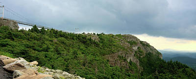 Photograph - Grandfather Mountain Swinging Bridge Panorama by Jill Lang