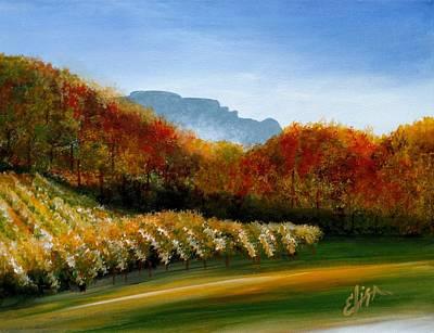 Winery Painting - Grandfather Vineyard by Elisa Gabrielli
