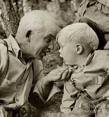 Photograph - Grandfathers - A Boy And His Grandfather by Sharon Hudson