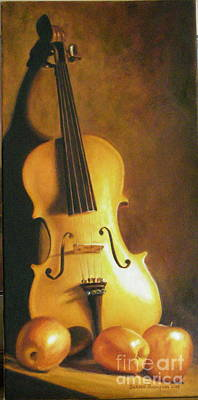 Painting - Grandfathers Fiddle by Susan Thompson