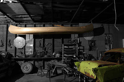 Photograph - Grandfathers Garage by Dylan Punke