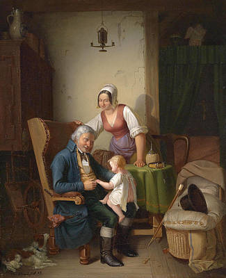 Painting - Grandfather's Joy by Emil Bauch