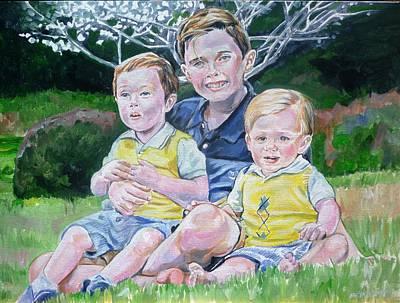 Painting - Grandkids by Bryan Bustard