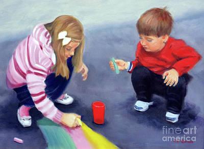 Grandkids Painting - Grandkids by Frank Quinn